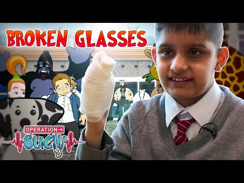 Broken Glasses Inside My Hand! | Operation Ouch | Science for Kids