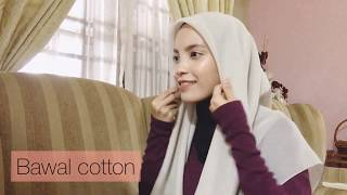 6 Ways How To Style Your Tudung Bawal (covering chest)