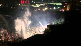 5 Alarm Blaze in Edgewater NJ.