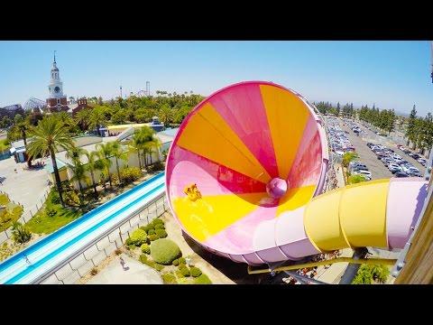 [4k] Pacific Spin - Knott's Soak City Waterpark (Buena Park, California)