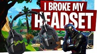I broke my headset... Fortnite Rage Moment