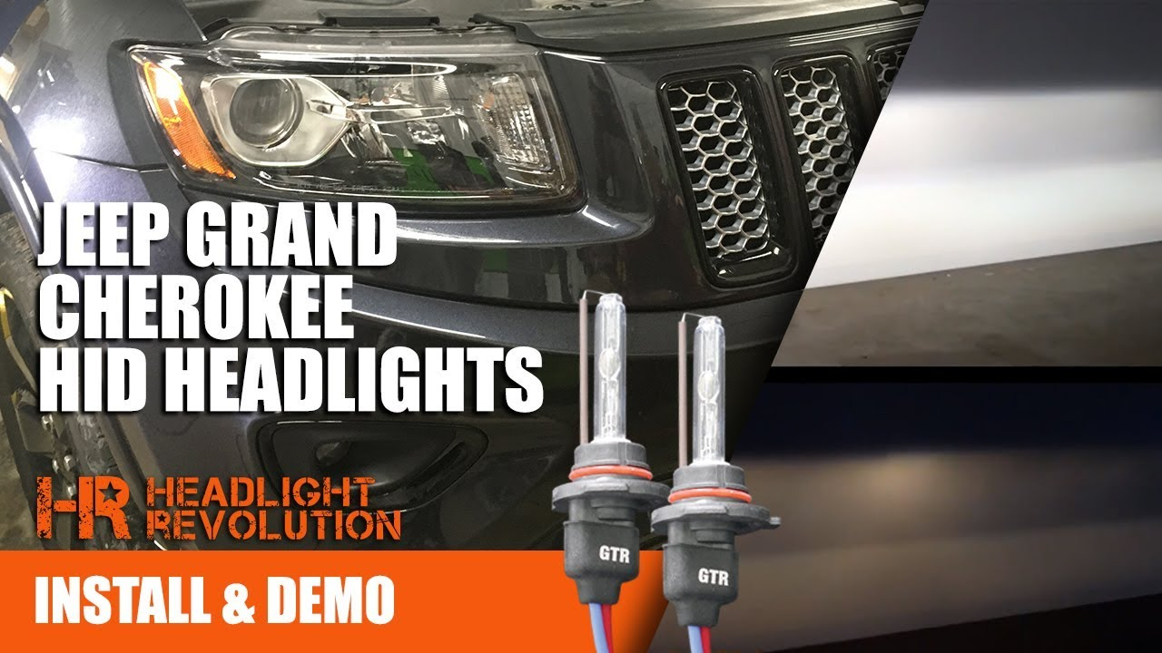 2011 2018 jeep grand cherokee hid headlights fog lights led turn signals install and demo [ 1280 x 720 Pixel ]