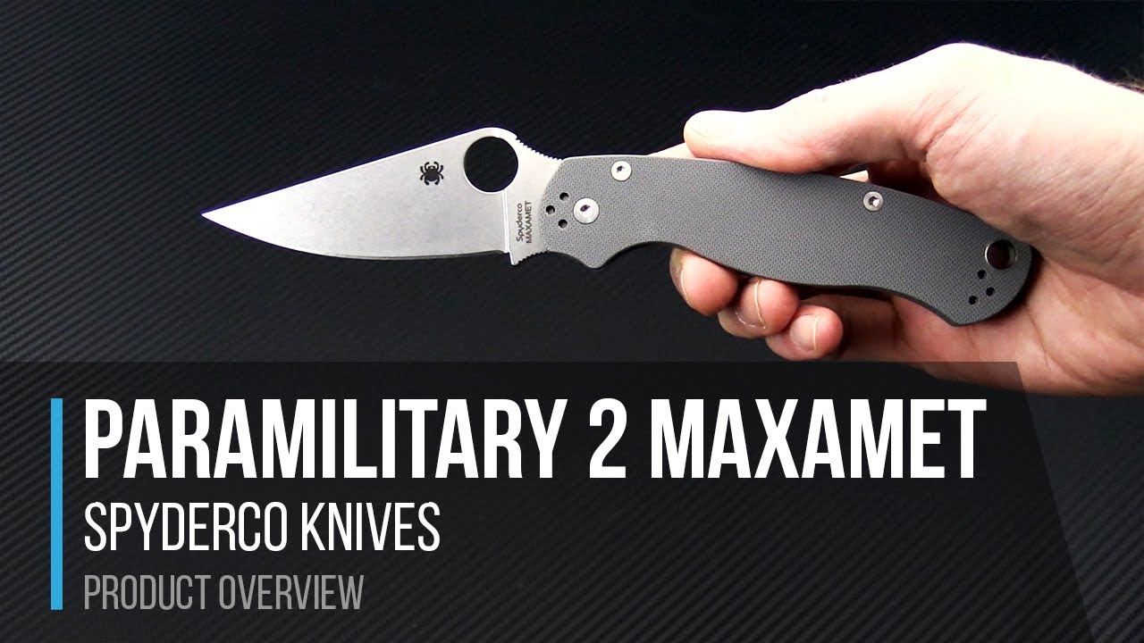 Spyderco Paramilitary 2 Maxamet Compression Lock Overview