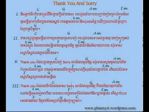 Guitar guitar chords sorry : Thank you and sorry Chords - YouTube
