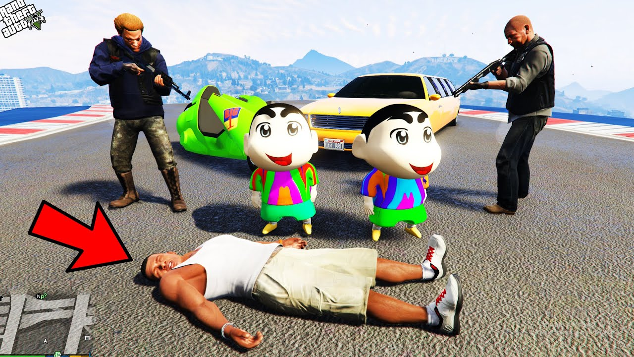 GTA 5 : Shinchan & Pinchan Kidnapped By Don To Save Franklin in GTA 5 ! (GTA 5 mods)