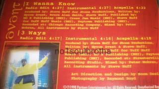 "Avant ""I Wanna Know"" (Radio Edit)"