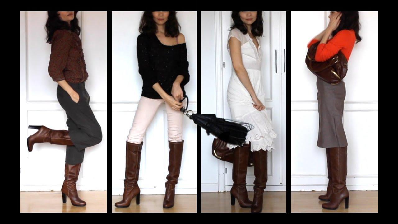 Lookbook 4 Outfits Con Botas Altas Cómo Vestir En Entretiempo