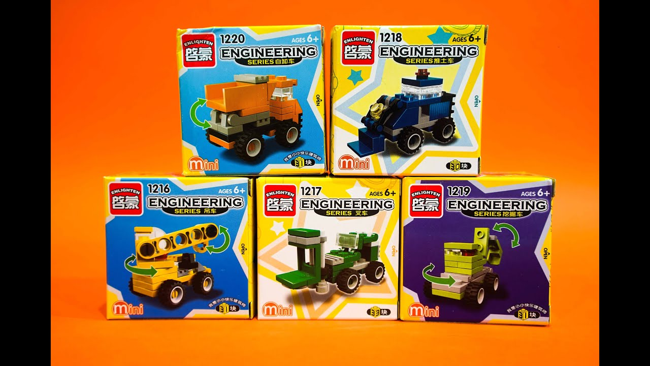 Build Engineering Series Brick Toys! 30 Pieces Lego Alike ...