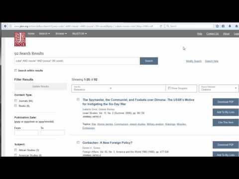 History - JSTOR Database