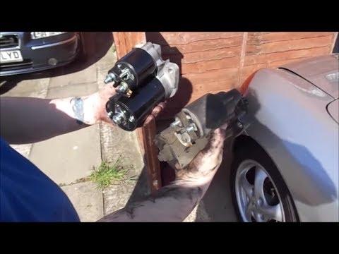 Porsche Boxster 986, DIY fitting new starter motor