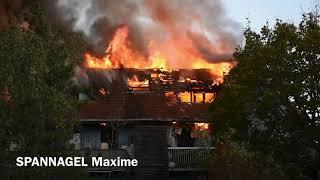 Un incendie détruit un immeuble rue des Bateliers à Mulhouse