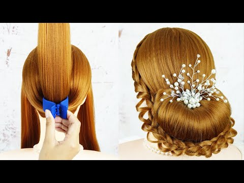 French Bun Hairstyle Step By Step - HOW TO: FRENCH ROLL UPDO HAIRSTYLE | Perfect for Prom, Weddings thumbnail
