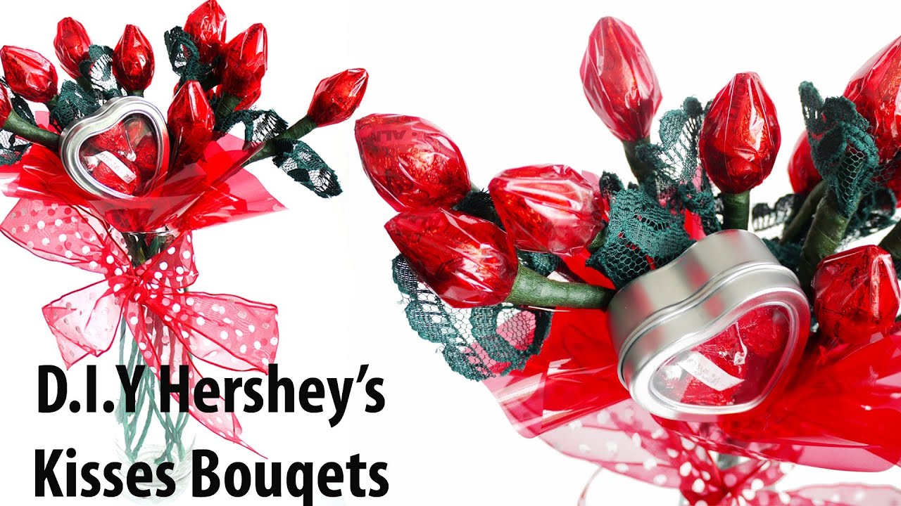 Valentineu0027s Day D.I.Y Hersheyu0027s Kisses Bouquets   YouTube