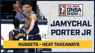 Michael Porter Jr leads the Denver Nuggets to their 5th straight win against the Miami Heat