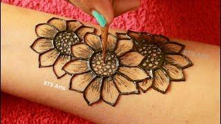 Rakhi Special New Stylish Floral Mehndi Designs for Hands||Simple Mehndi Design||Easy Mehndi Designs