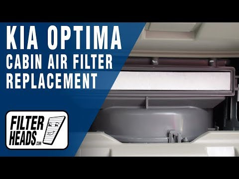 How to Replace Cabin Air Filter 2017 Kia Optima
