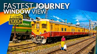 Mechada to Kharagpur Highlight Journey on the Window View at High Speed :: Indian Railway