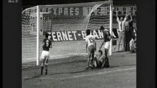ROMANIA ITALIA 3 3 17 GIUGNO 1972 RICOSTRUZIONE DELLE RETI