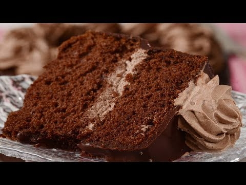 Chocolate Chiffon Cake Recipe Demonstration - Joyofbaking.com
