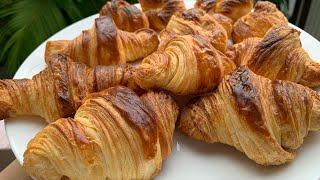 Bánh sừng bò giòn rụm thơm bơ   Easy croissants recipe