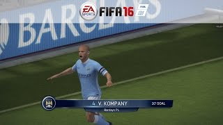 FIFA 16: Gameplay / Match #4 - Manchester United Vs. Manchester City