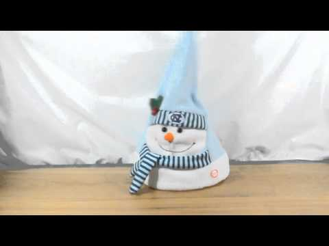 """#64964 8"""" Animated Musical Snowman Hat"""