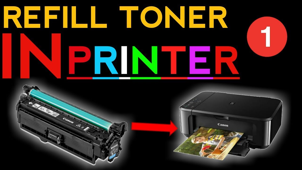 How To Refill Laser Printer Toner Cartridge Hp Amp Canon