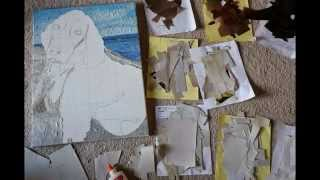 """Paper Mosaic By Crystal Davis. The Making Of """"emma"""" The Springer Spaniel."""