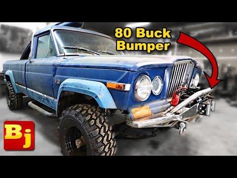 CHEAP! homemade winch bumper! low buck diesel truck episode 9