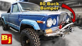 CHEAP! homemade winch bumper! low buck diesel truck episode 9