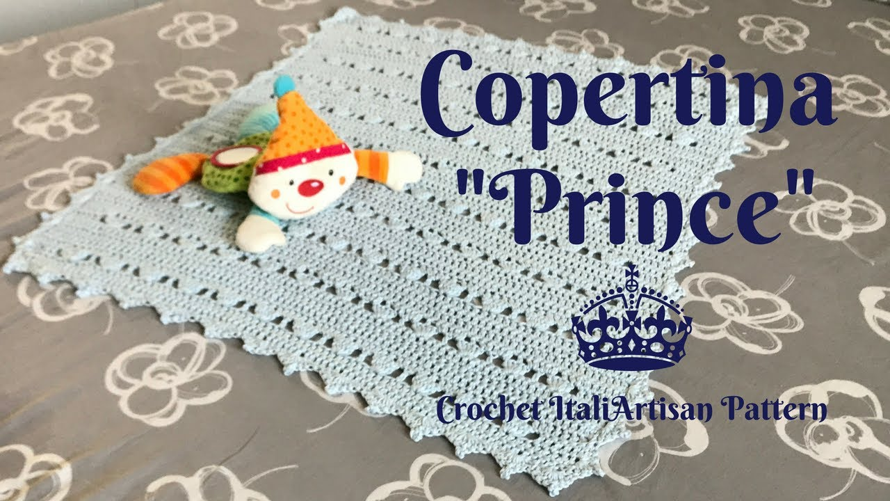 Copertina Prince Alluncinetto Punto Facile Crochet Baby Blanket