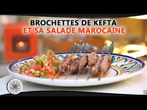 choumicha brochettes de kefta et sa salade marocaine cuisine marocaine vf youtube. Black Bedroom Furniture Sets. Home Design Ideas