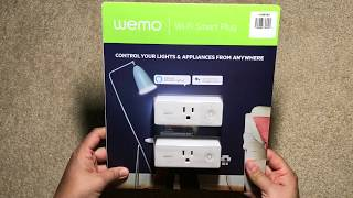 WeMo Wi-Fi MINI Smart Plug (2PK) Unboxing And Setup With Smart phone