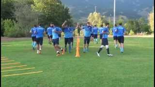 Complete soccer  training warm up....3