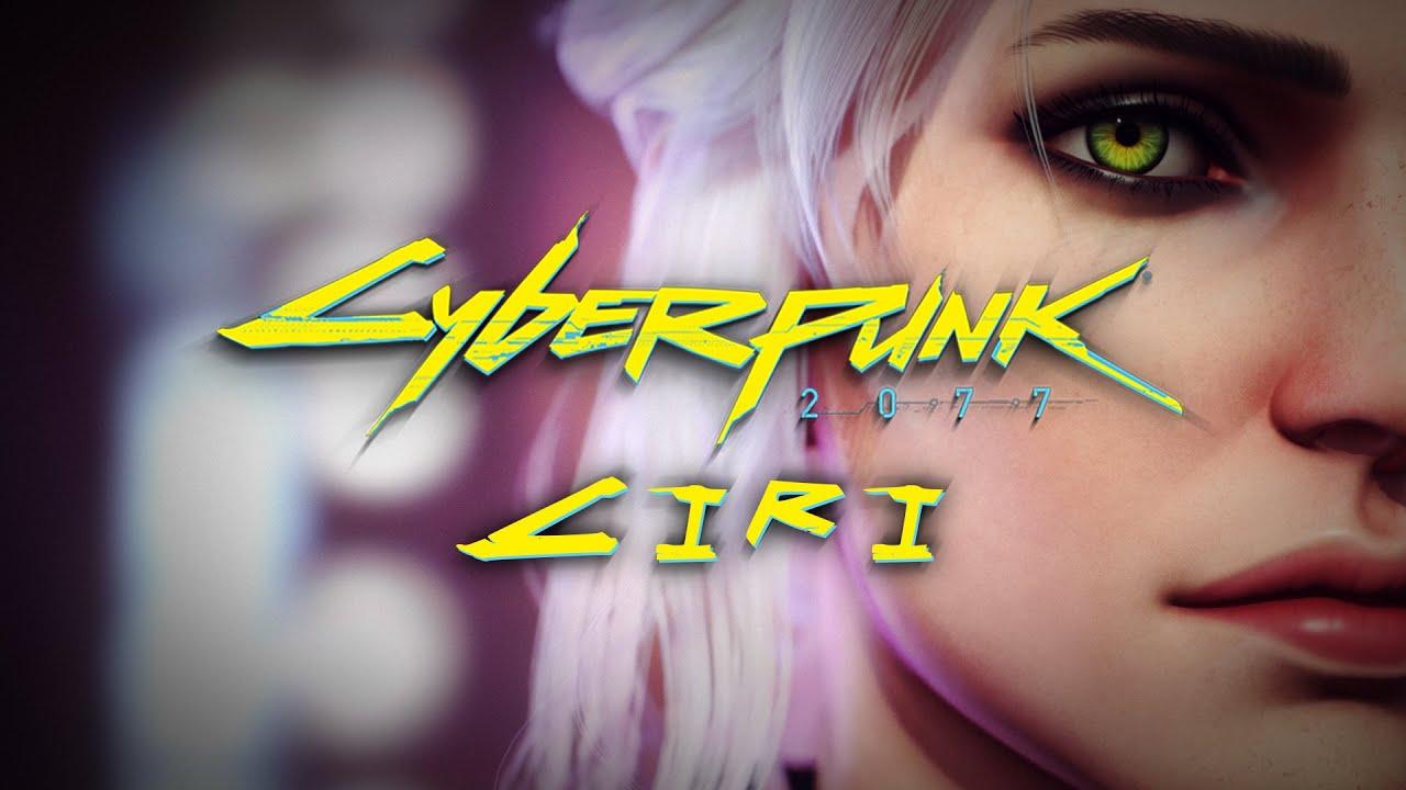 3D модель Цири в стиле Cyberpunk 2077 | The Witcher 3