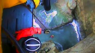 USCG Helicopter Rescue Swimmer Rescues Rescue Water Craft Crew