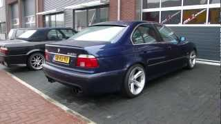 bmw 535i e39 insane sound straight pipes exhaust by maxiperformance