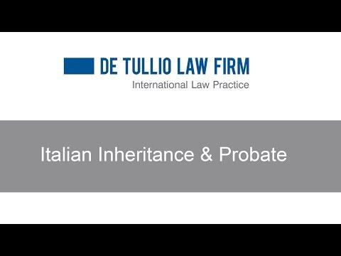 Italian Inheritance & Probate