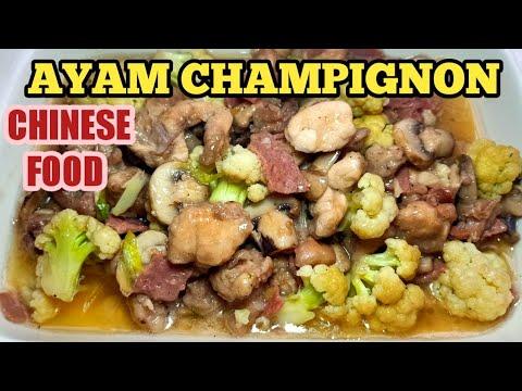 resep-ayam-jamur- -ayam-champignon-chinese-food