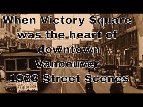 Vancouver street scenes in 1933