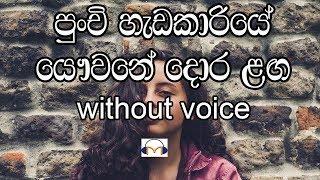 Punchi Hadakariye Karaoke (without voice) පුංචි හැඩ කාරියේ