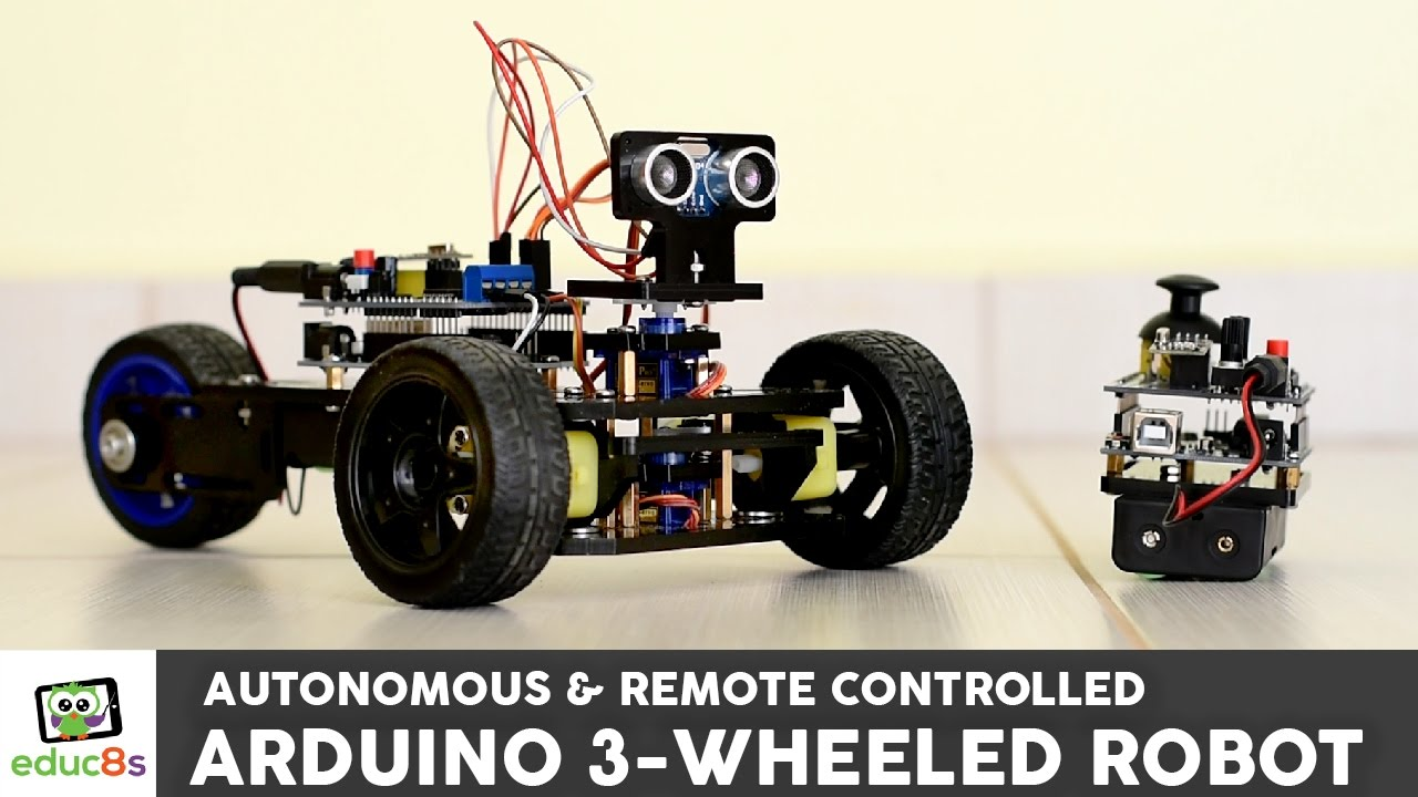 Arduino project wheeled robot with remote contol or