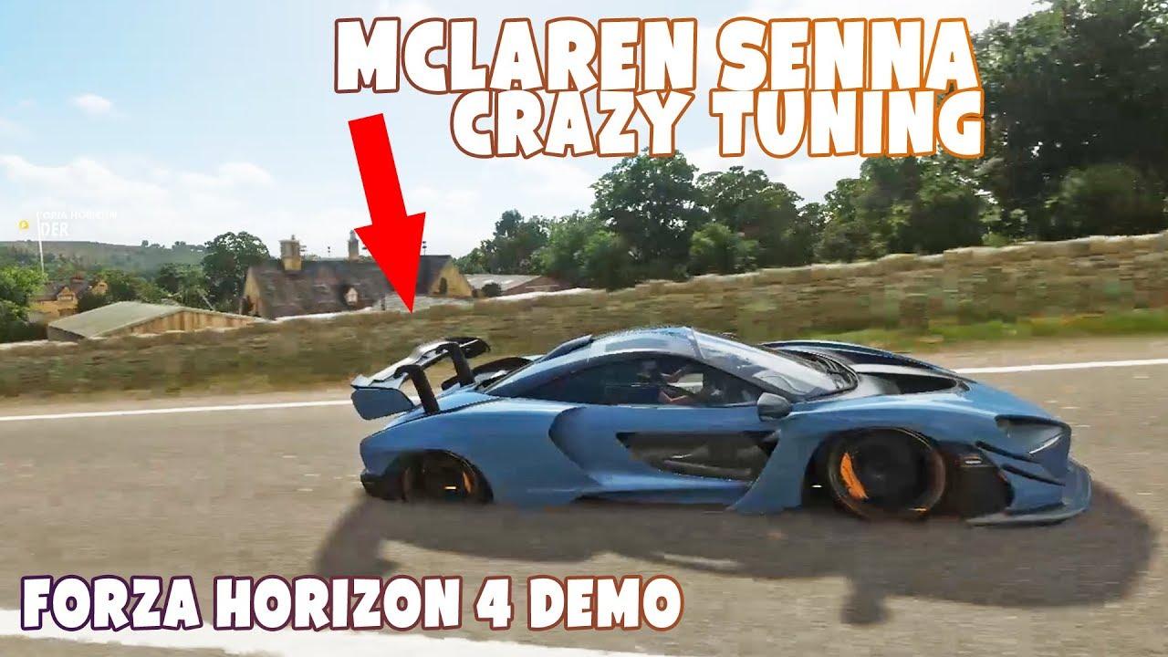forza horizon 4 crazy mclaren senna tuning - youtube