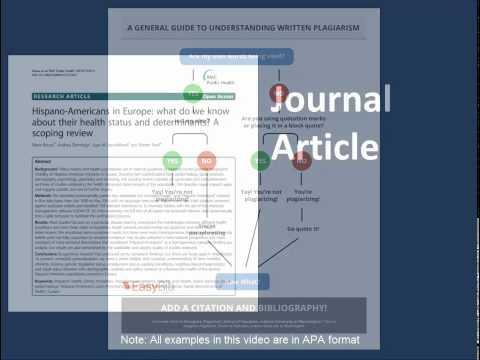 Citation Series: Anatomy of a Citation