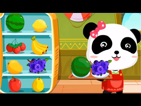 Baby Panda Making Juice, Ice Cream & Smoothies | Join The Fun With Little Panda | Babybus Kids Games
