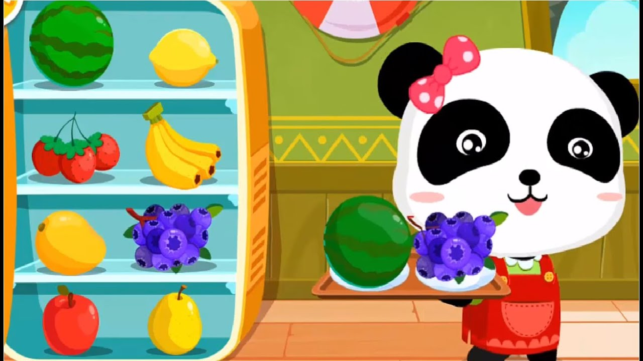 Baby Panda Making Juice Ice Cream & Smoothies