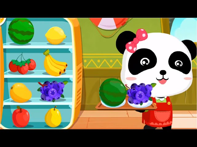 Ice Cream Smoothie - Baby Panda Making Juice, Ice Cream & Smoothies | Join The Fun With Little Panda Kids Game