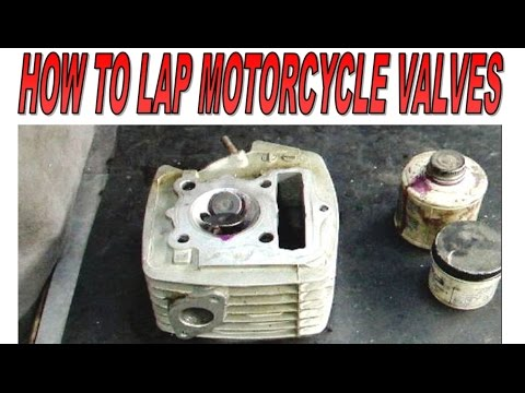 How to lap motorcycle valves.