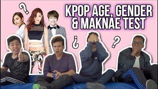 K-POP AGE & GENDER TEST - W/BRITISH BOYS