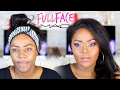 M.A.C MAKEUP TUTORIAL ON BLACK WOMEN | ONE BRAND TUTORIAL on Dark Brown Skin | WOC